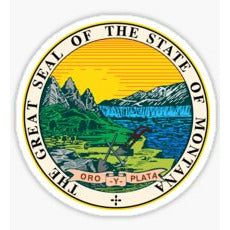 The Great Seal Of The State Of Montana Sticker Montana State Seal Decal