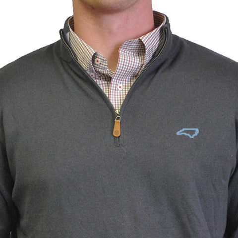 North Carolina Chapel Hill 1/4-Zip Pullover Grey