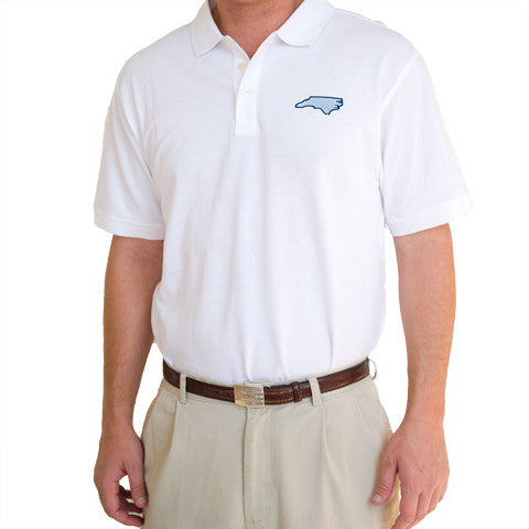 North Carolina Chapel Hill Gameday Polo White