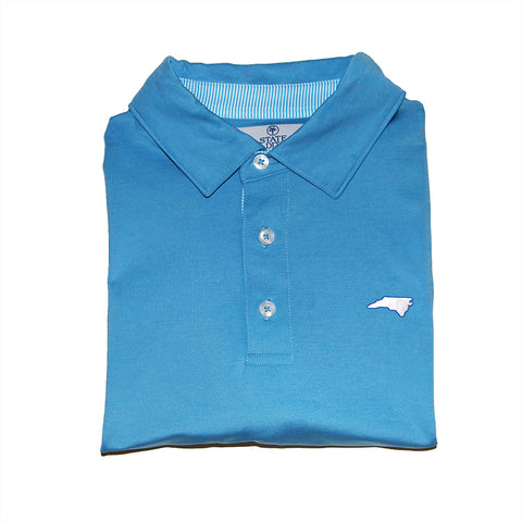 North Carolina Chapel Hill Signature Polo Light Blue