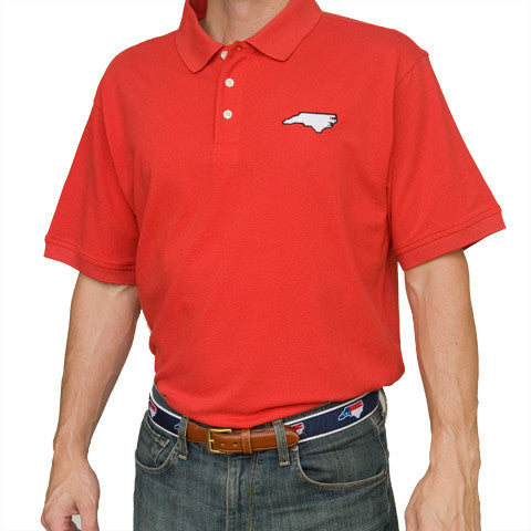 North Carolina Raleigh Gameday Polo Red