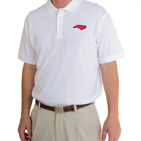 North Carolina Raleigh Gameday Polo White