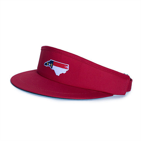 North Carolina Traditional Golf Visor Red