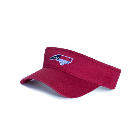 North Carolina Traditional Hat Visor Red