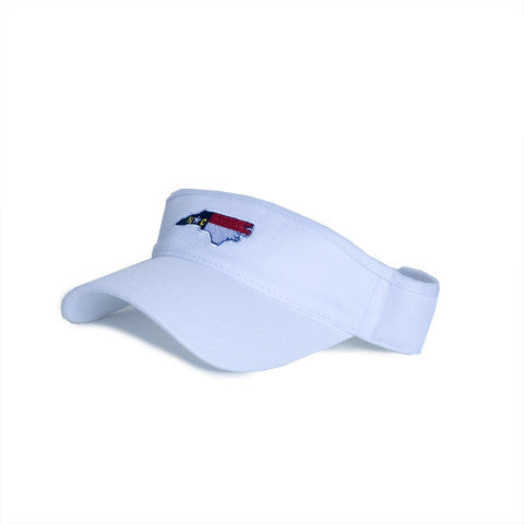 North Carolina Traditional Hat Visor White