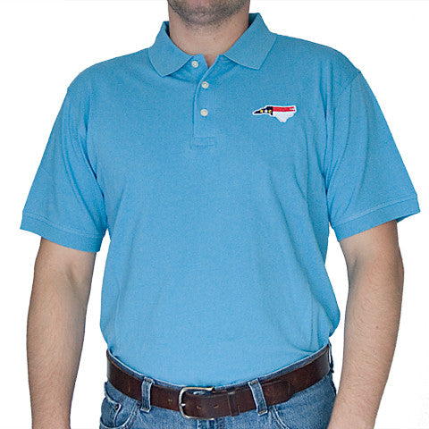 North Carolina Traditional Polo Light Blue