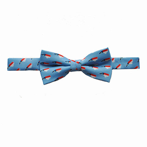 North Carolina Traditional Youth Bow Tie Light Blue
