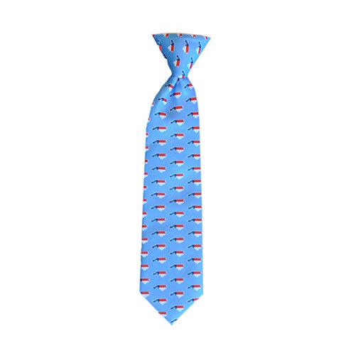 North Carolina Traditional Youth Tie Light Blue