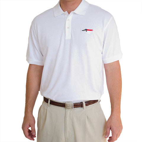 North Carolina Traditional Polo White
