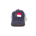 North Carolina Flag Blue Trucker Hat Front View