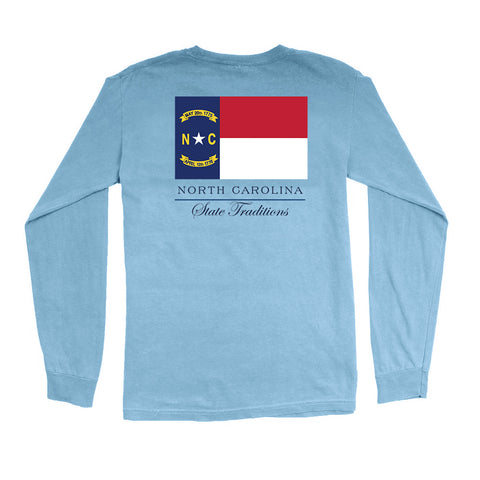 North Carolina Flag Long Sleeve T-Shirt