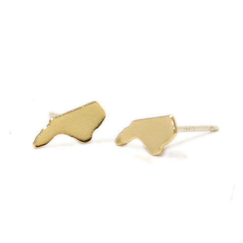North Carolina Earrings Gold