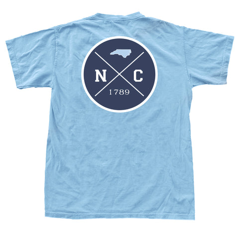 North Carolina Gameday Crossing T-Shirt Carolina Blue