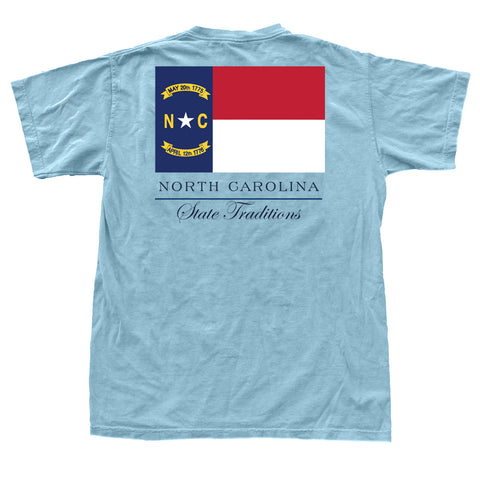 North Carolina State Flag t-shirt carolina blue