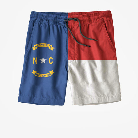 North Carolina State Flag Swim Trunks`