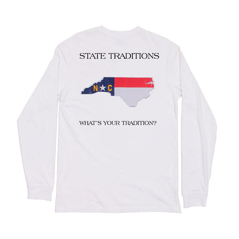 North Carolina Traditional Long Sleeve T-Shirt White
