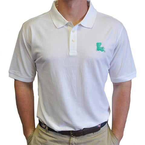 Louisiana New Orleans Gameday Polo White