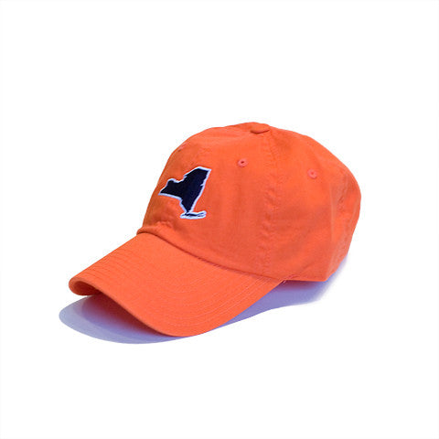 New York, New York Orange Hat, New York Cap, Orange with Navy, Dad Hat, 6 panel, cotton slouch, New York Gameday
