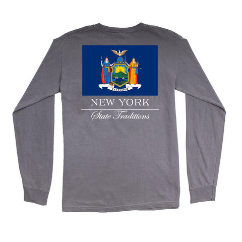 New York State Flag Long Sleeve T-Shirt