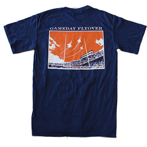 State Traditions Gameday Flyover T-Shirt Navy and Orange