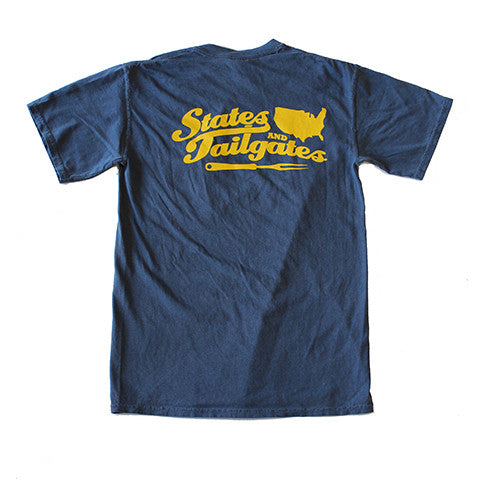 States and Tailgates T-Shirt Navy and Gold