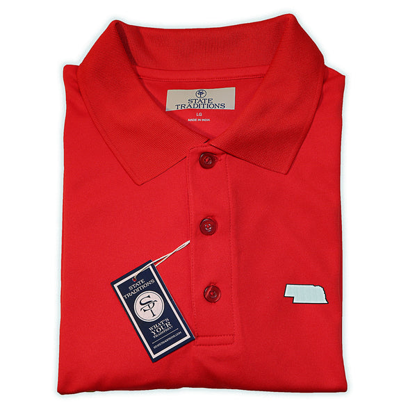 Nebraska Lincoln Gameday Performance Polo Red