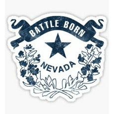 Battle Born Sticker Battle Born Decal Nevada State Crest Las Vegas Sticker Reno Sticker