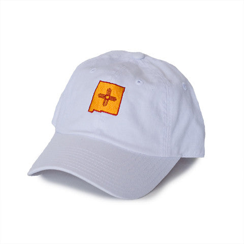 New Mexico Traditional Hat White