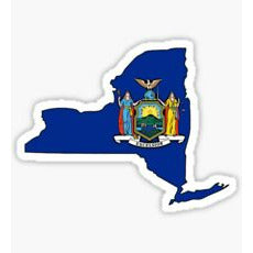 New York Flag Sticker, Big Apple, New York Sticker, I love NYC, NYC Sticker, New York State, New York Flag Decal, Big Apple Sticker, Big Apple Decal