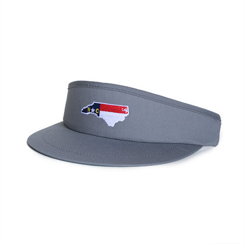 North Carolina Traditional Golf Visor Grey