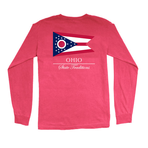 Ohio State Flag Long Sleeve T-Shirt