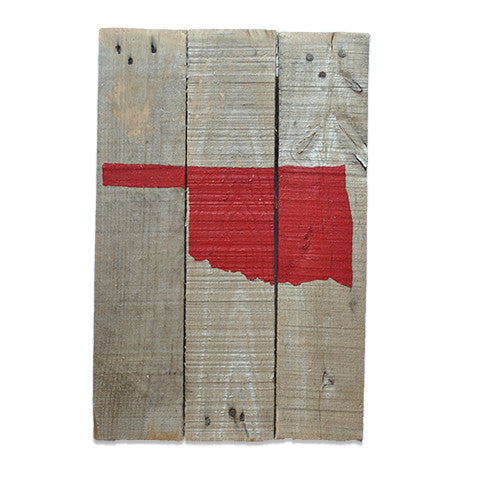 Oklahoma Norman Gameday Reclaimed Wooden Pallet Art Painted
