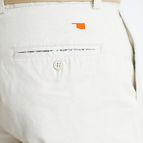 Oklahoma Stillwater Gameday Coastline Shorts Stone