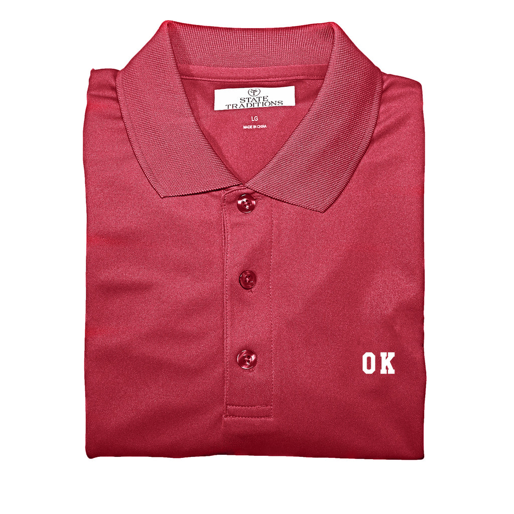 "Oklahoma ""OK"" State Letters Performance Polo"