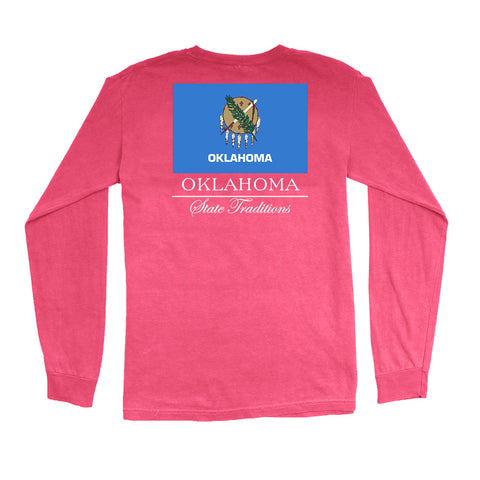 Oklahoma State Flag Long Sleeve T-Shirt