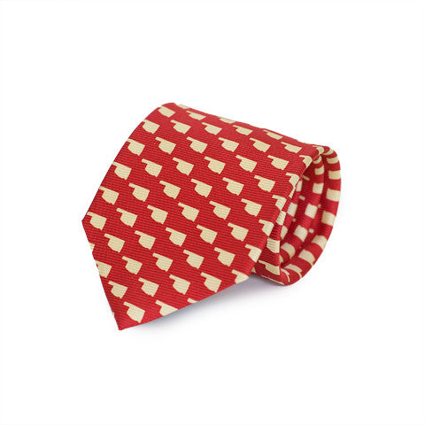 Oklahoma Norman Gameday Tie Crimson