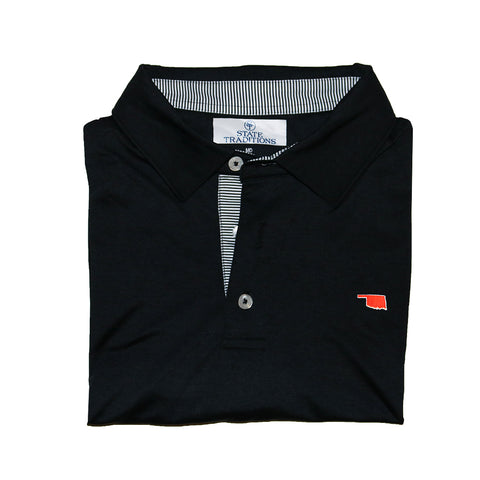 Oklahoma Stillwater Gameday Signature Polo Black