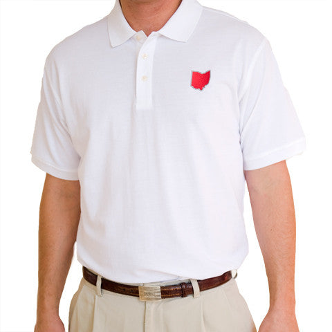 Ohio Columbus Gameday Polo White
