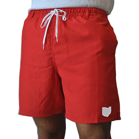Ohio Columbus Gameday Swimwear Red