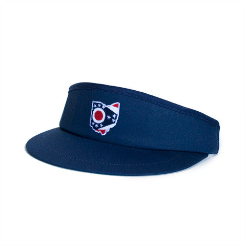 Ohio Traditional Golf Visor Navy