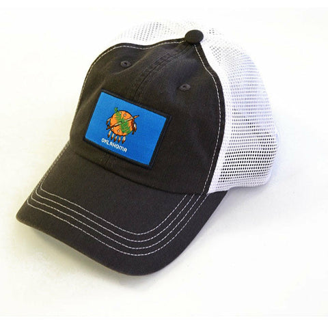 Oklahoma Flag Patch Trucker Hat