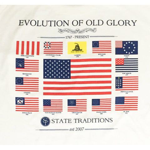 USA, America, Old Glory, Evolution of Old Glory, The Progression of Freedom,