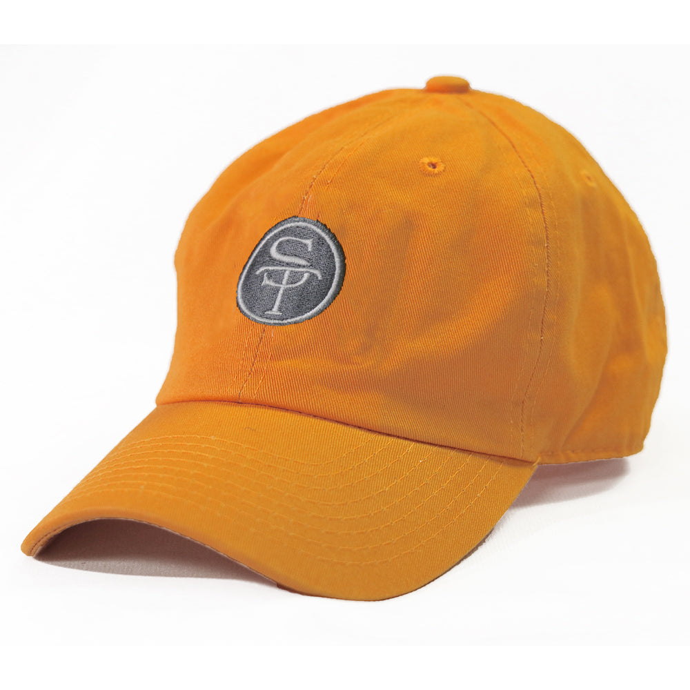 ST Logo Hat Orange and White