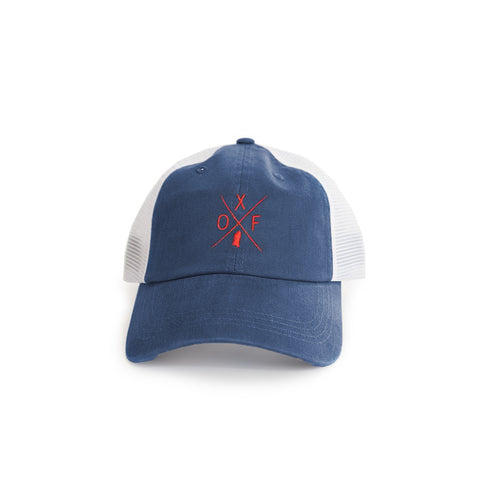 "Mississippi Oxford ""OXF""  Gameday Crossing Trucker Hat"