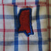 Mississippi Oxford Gameday Tattersall Long Sleeve Shirt Red and Blue