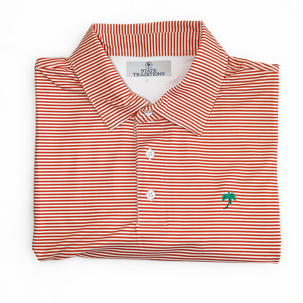 "Palm Tree ""Tips"" Performance Polo"