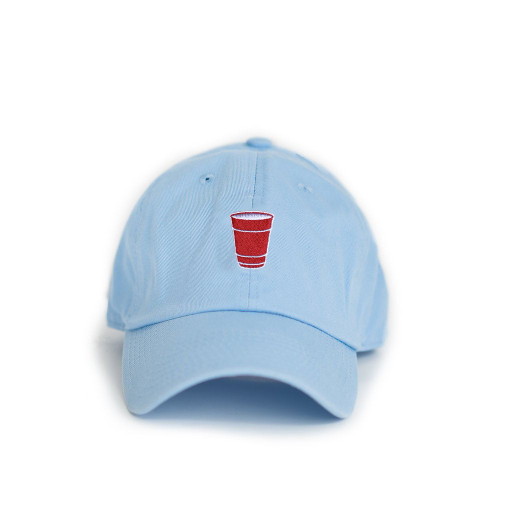 state traditions party cup hat light blue