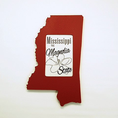Mississippi Picture Frame Maroon