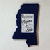 Mississippi Picture Frame Navy