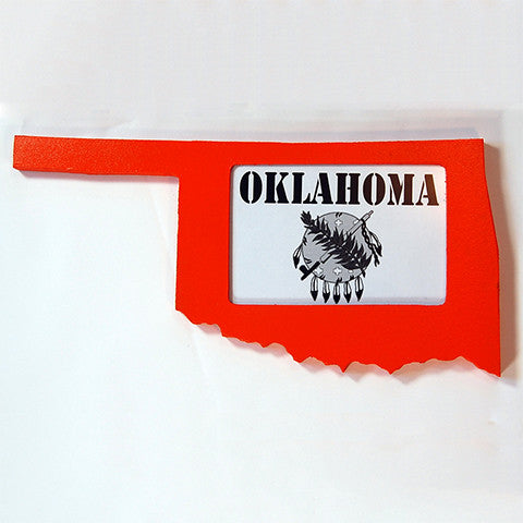 Oklahoma Picture Frame Orange